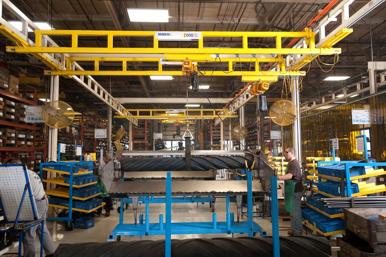 Ergonomic Workstation Bridge Cranes