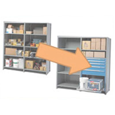 Étagères avec tiroirs intégrés