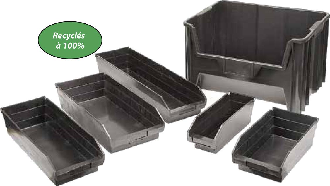 Bacs à pièces en plastique recyclé