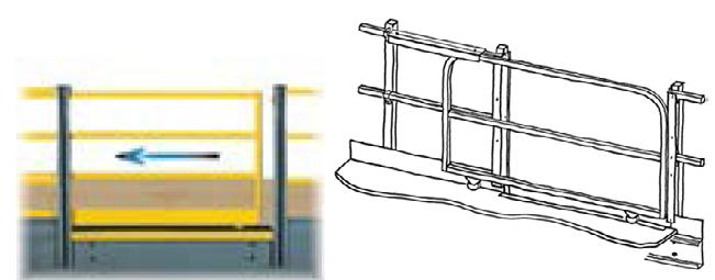 barri res de chargement pour mezzanine multi industriel. Black Bedroom Furniture Sets. Home Design Ideas