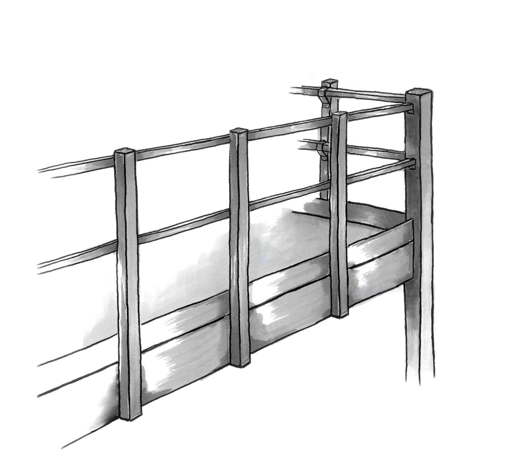 garde corps et coup de pieds pour mezzanine multi industriel. Black Bedroom Furniture Sets. Home Design Ideas