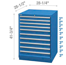 Cabinet de rangement à tiroirs – Hauteur comptoir